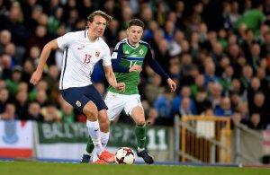 VM-kvalifiseringNord-Irland - Norge Sander Berge , Norge