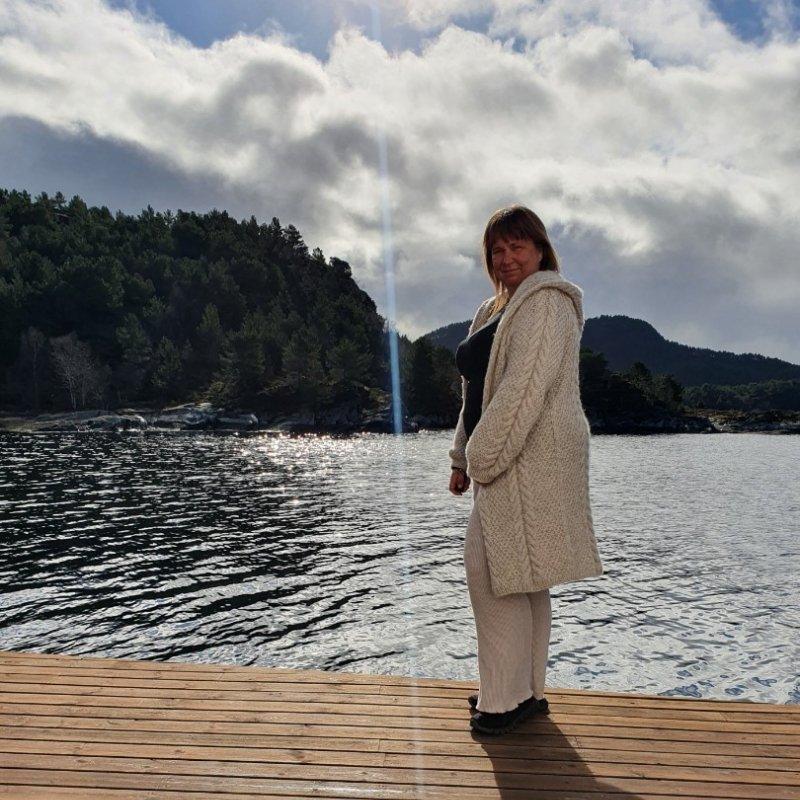 Designeren av KBK genseren; Ida Amalie Unjem.