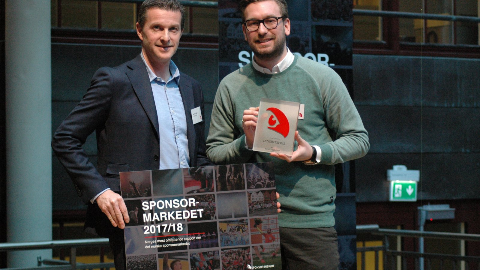 Vegard Arntzen i Sponsor Insight og Martin Ygre i Norsk Toppfotball